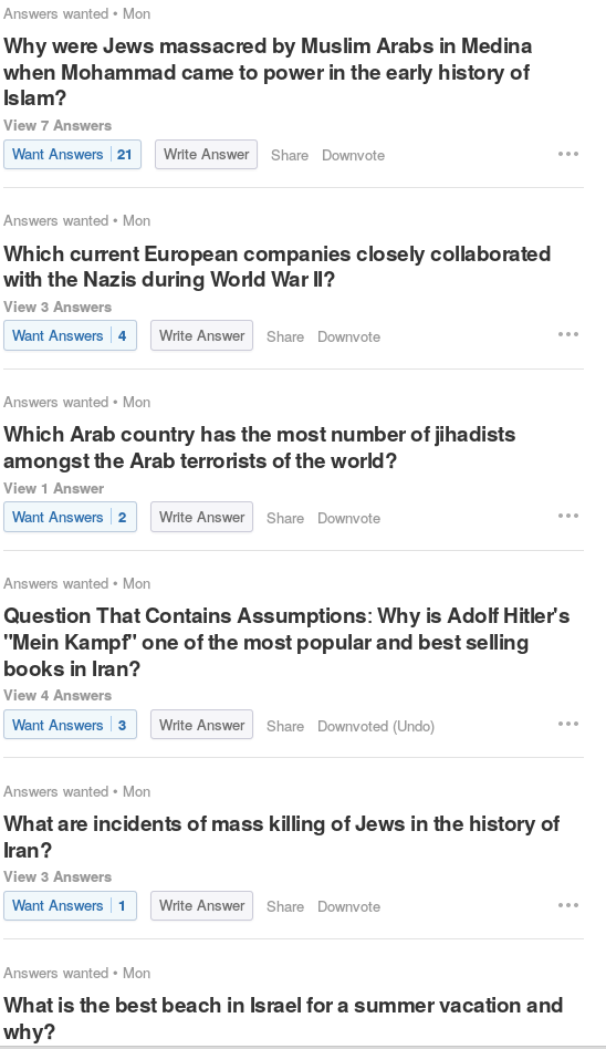 Screenshot from Quora